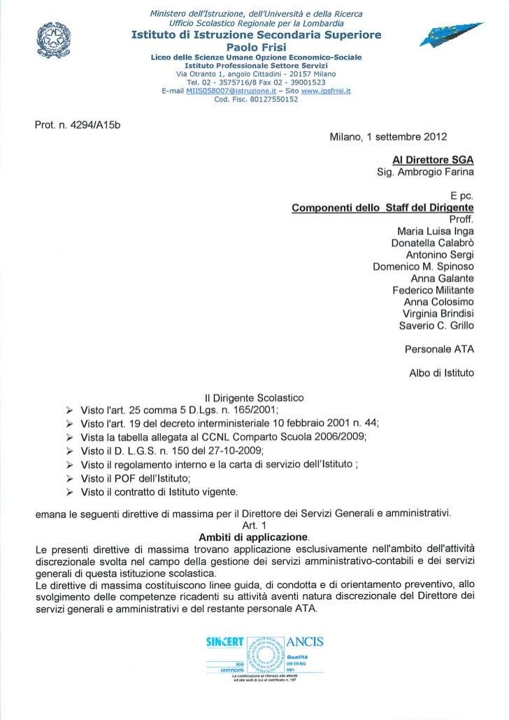 Direttiva DSGA 2012-2013
