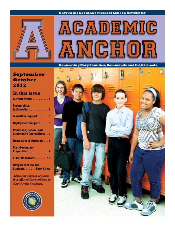Navy Region Southwest School Liaison Newsletter                                                  academic A anchorSeptembe...