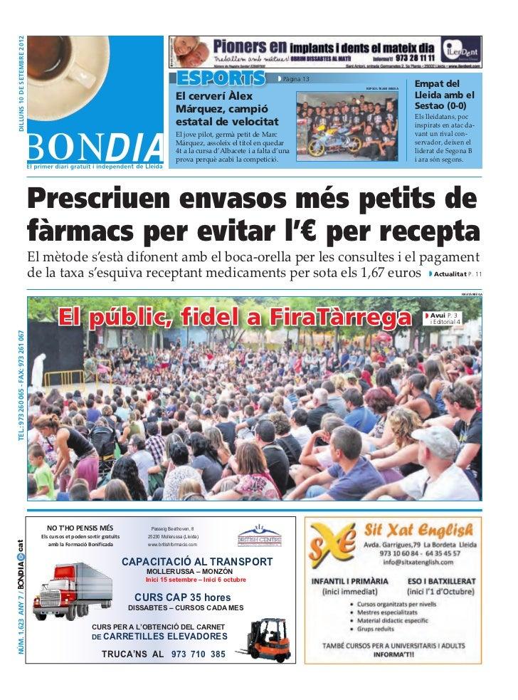 Bondia Lleida 10092012