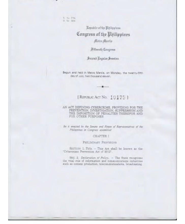 Republic Act No. 10175