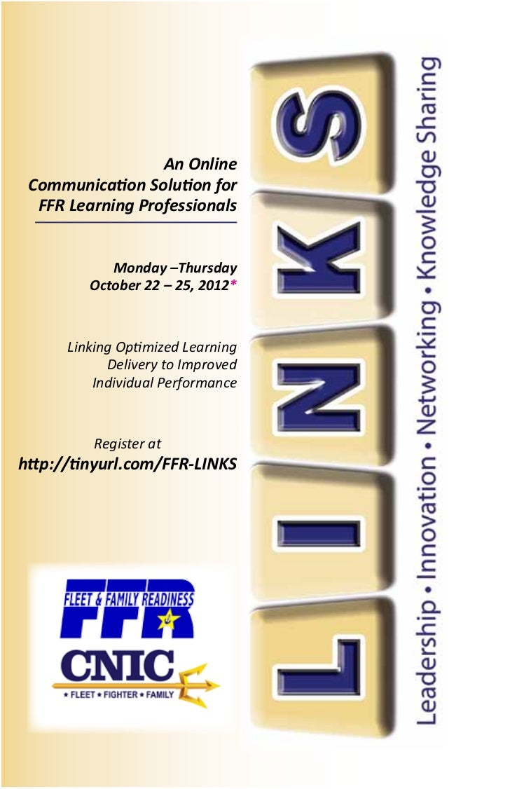 An Online Communication Solution for  FFR Learning Professionals            Monday –Thursday         October 22 – 25, 2012...