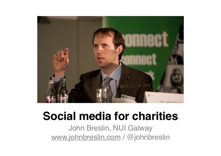 Social Media for Charities
