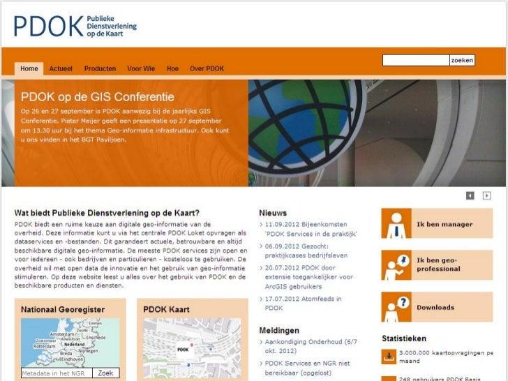 PDOK ontsluit datasets van de overheid, PDOK