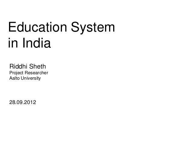 20120928 education system in india