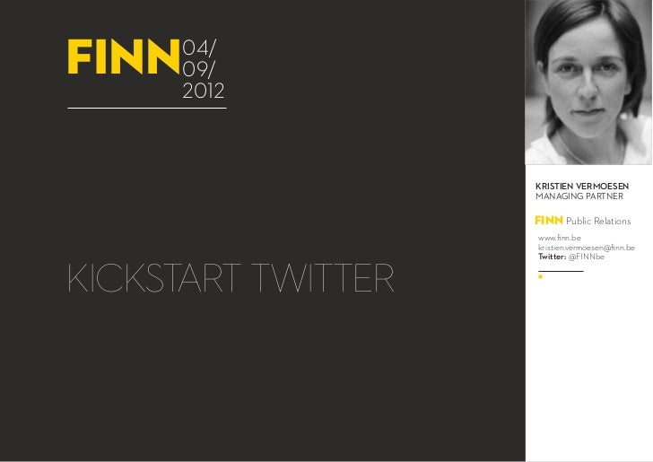 FINN Webinar: Kickstart Twitter - 04.09.2012