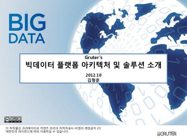 201210 그루터 빅데이터_플랫폼_아키텍쳐_및_솔루션_소개