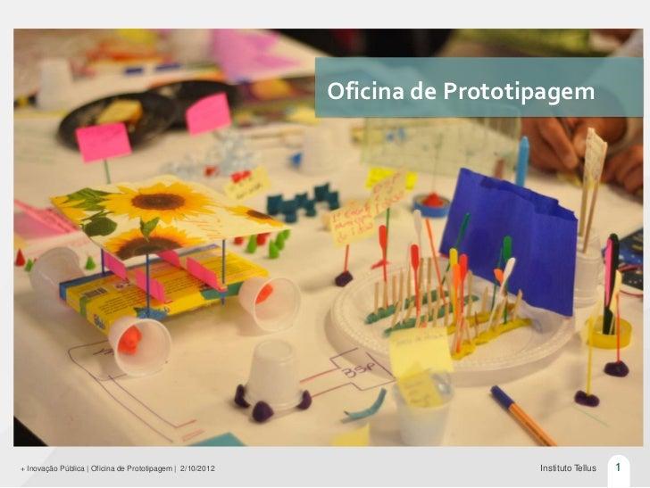 Oficina de Prototipagem+ Inovação Pública   Oficina de Prototipagem   2/10/2012                     Instituto Tellus   1