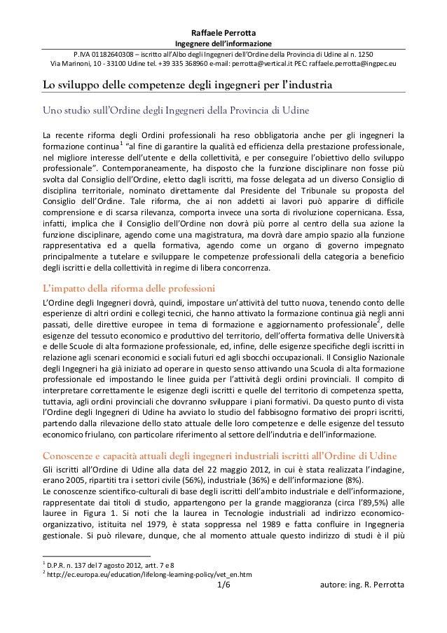 20121003   lo sviluppo delle competenze degli ingegneri per l'industria