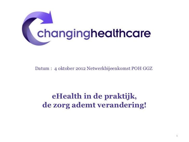 eHealth in de praktijk tbv Netwerk POH GGZ