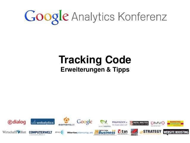 Tracking CodeErweiterungen & Tipps