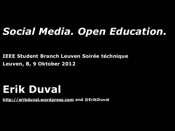 Social Media. Open Learning.