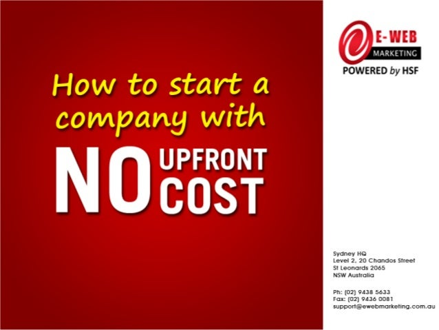 How to Start a Company With NO Upfront Cost