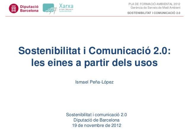 PLA DE FORMACIÓ AMBIENTAL 2012                                              Gerència de Serveis de Medi Ambient           ...