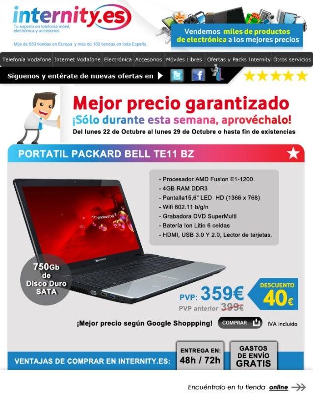Portátil Packard Bell TE11 BZ