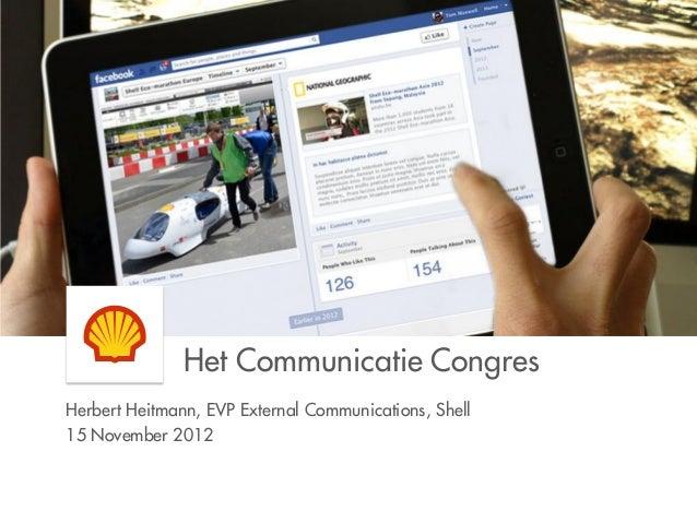 Presentatie Herbert Heitman; Het Communicatie Congres 2012