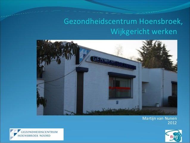 20121039 presentatie aw gezondheidscentum hoensbroek