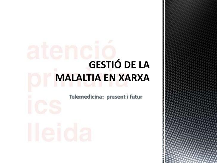 2012 10: Atencio primaria Lleida: Gestió de la malaltia en xarxa