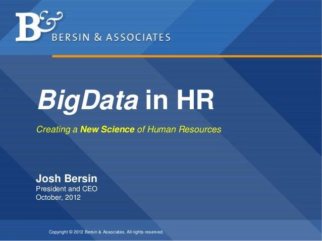 BigData in Human Resources - Making it Happen