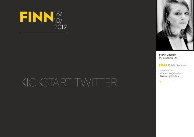 Webinar : Kickstart Twitter