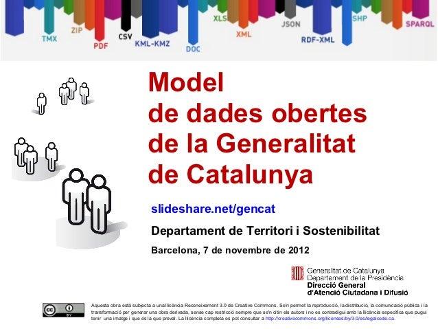 Model de dades obertes de la Generalitat de Catalunya
