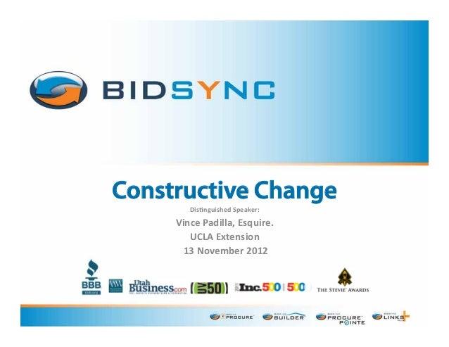 Constructive Change: Friend or Foe?