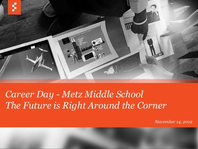 Career Day - Metz Middle School The Future is Right Around the Corner November 14, 2012
