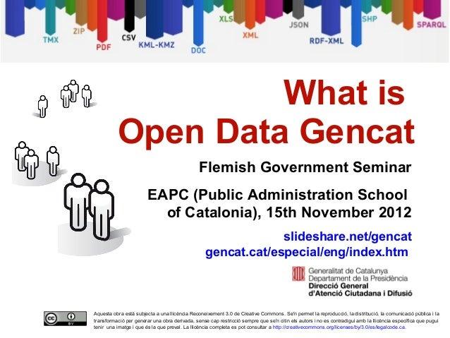 What is open data gencat