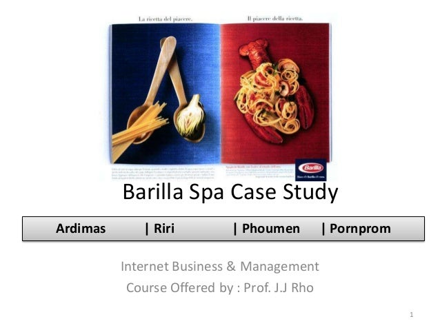 case barilla spa a This case study barilla case study and other 63,000 as a new strategy of supply chain management for barilla spa in order to solve both demand fluctuation and.