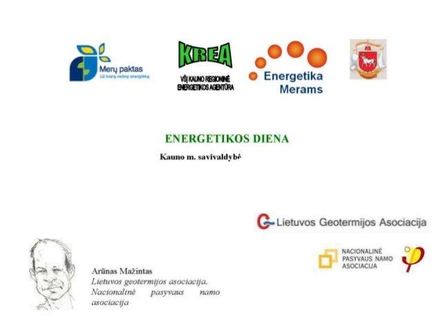 Arūnas Mažintas. Lietuvos geotermijos asociacija