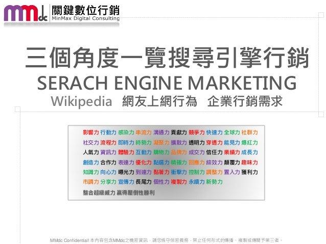 【MMdc 分享】整合數位行銷 關鍵策略實戰班 20121123_Jose_搜尋行銷