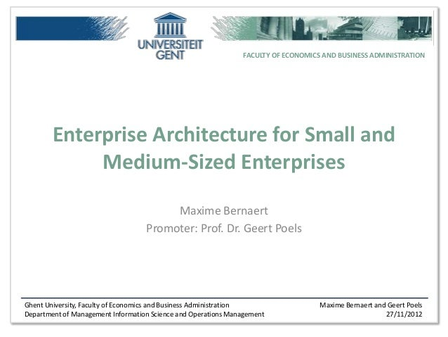 CHOOSE: Enterprise Architecture for Small and Medium Sized Enterprises