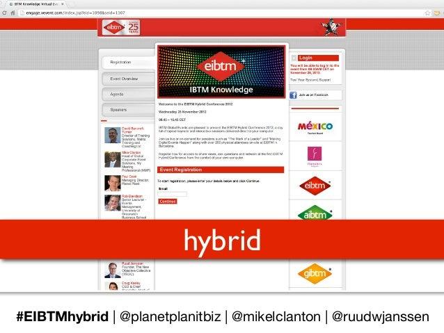#EIBTMhybrid inaugural hybrid events on EIBTM's 25th birthday.... how it was done....