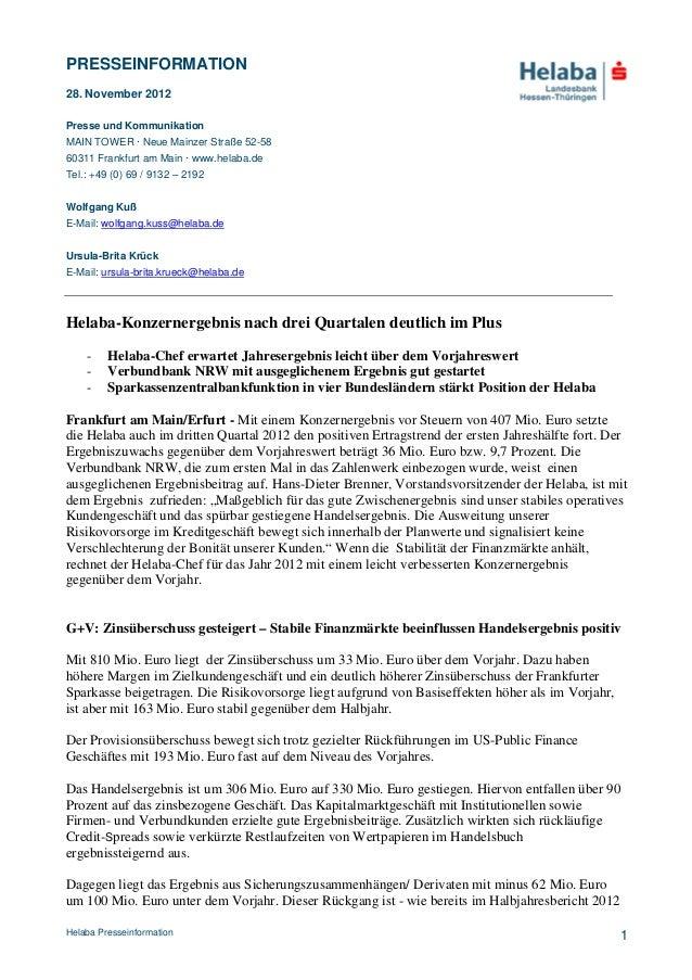 PRESSEINFORMATION28. November 2012Presse und KommunikationMAIN TOWER · Neue Mainzer Straße 52-5860311 Frankfurt am Main · ...