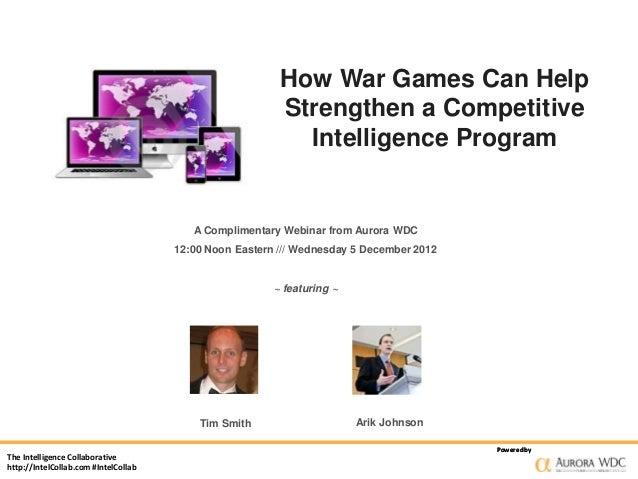 How War Games Can Help Strengthen a Competitive Intelligence Program
