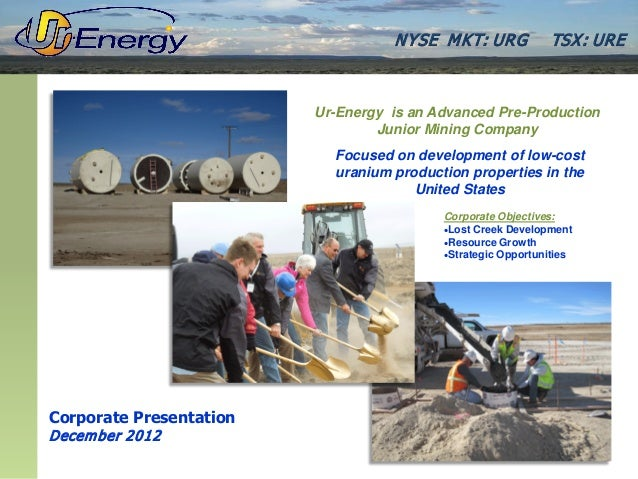 Ur-Energy December 2012 Presentation