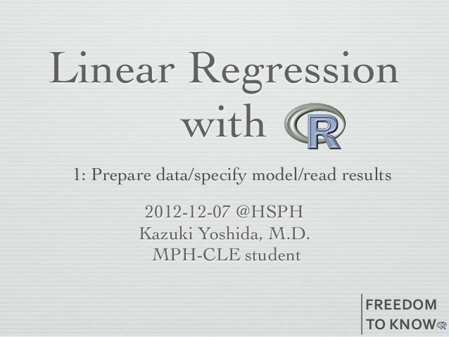 Linear regression with R 1