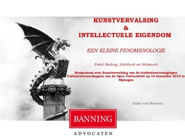Kunstvervalsing en intellectuele eigendom