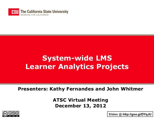CSU System-wide Learning Analytics Projects