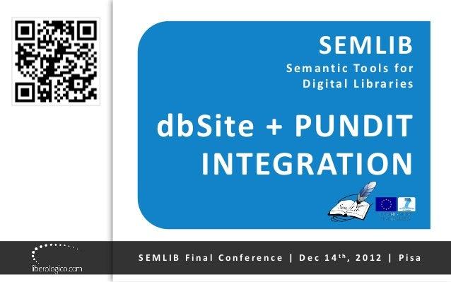 SEMLIB Final Conference | Liberologico presentation