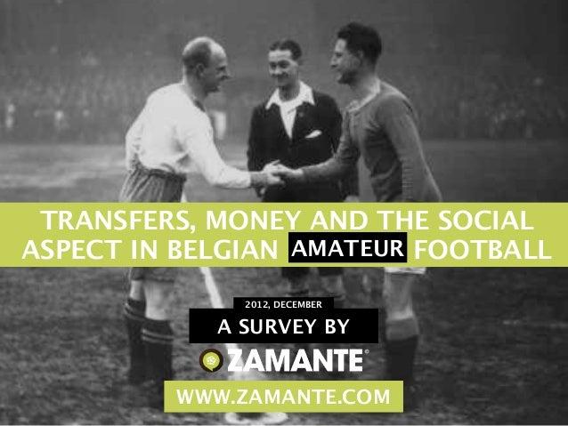 Zamante Research - AMATEUR FOOTBALL PLAYERS