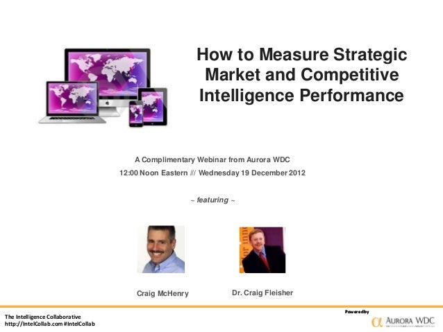 How to Measure Strategic Market and Competitive Intelligence Performance