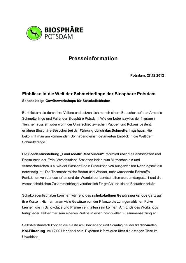 Presseinformation                                                                      Potsdam, 27.12.2012Einblicke in die...