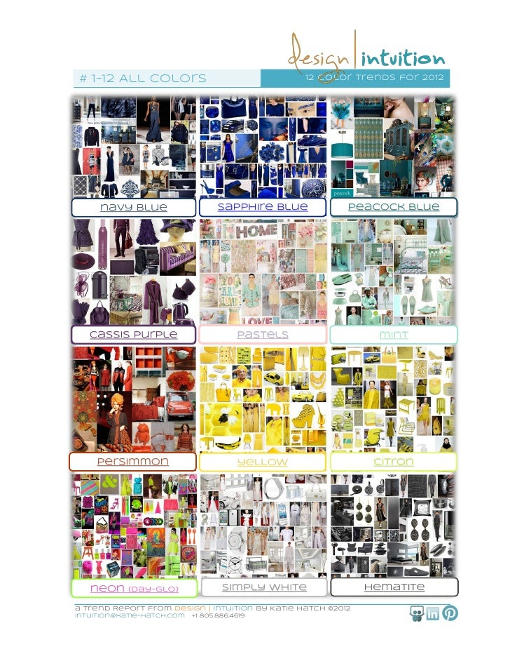 All 12 of 12 Color Trends for 2012 from Design   Intuition