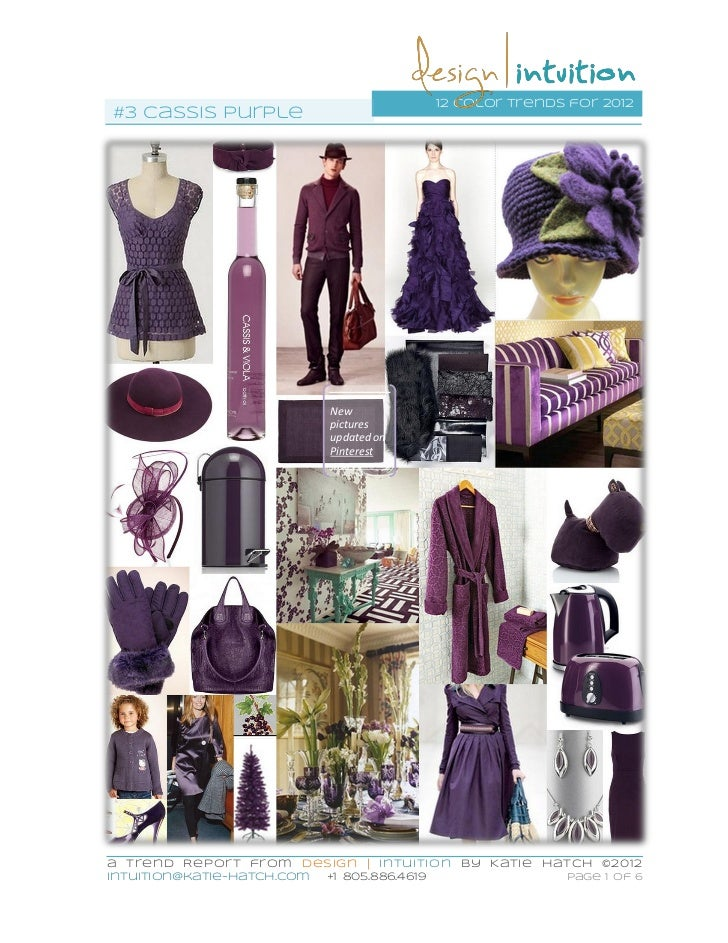 """Cassis Purple"" 3rd of 12 #colorTrends for 2012"