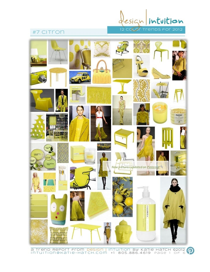 """Citron"" 7th of 12 #colorTrends for 2012"