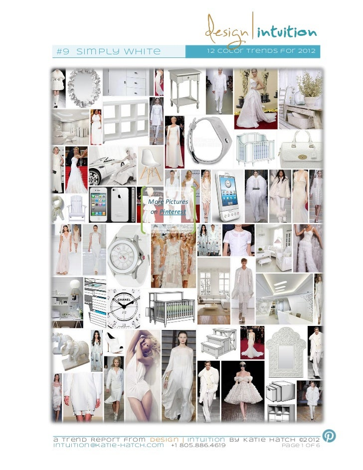 """Simply White"" 9th of 12 Color Trends for 2012"