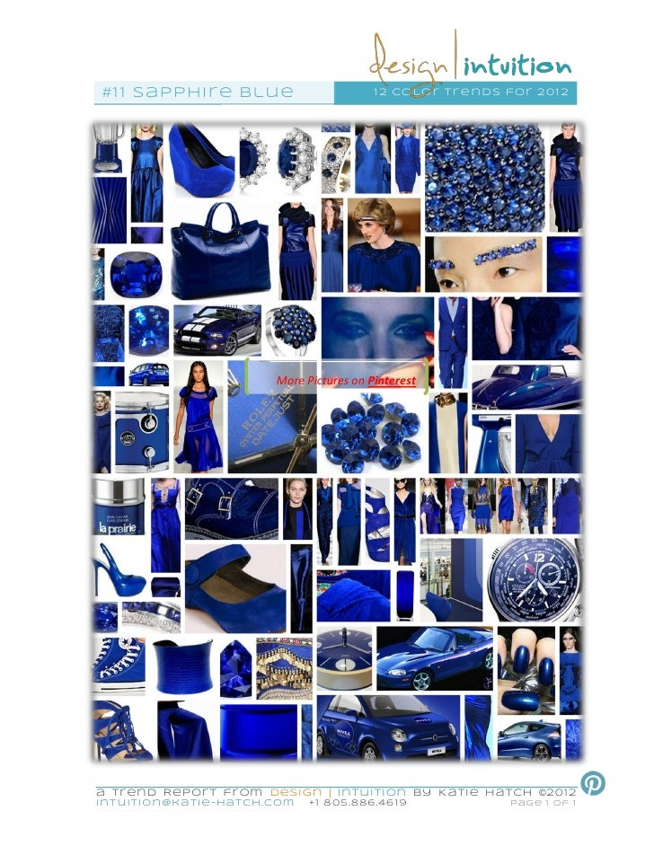 """""""Sapphire"""" 11th of 12 Color Trends for 2012"""