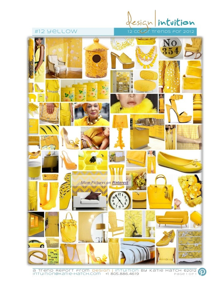 """""""Yellow"""" 12th of 12 Color Trends for 2012"""