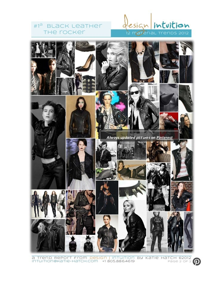 """""""Black Leather-Satin Finish"""" 2nd of 12 Material Trends for 2012"""