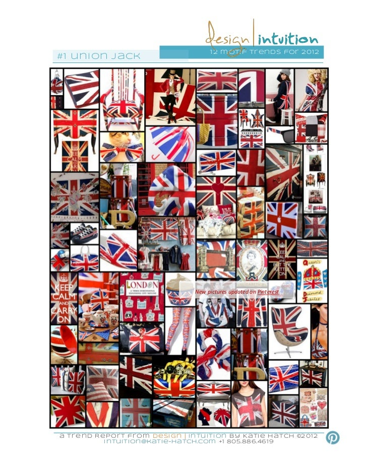 """British Union Jack"" 1st of 12 Design Motif Trends for 2012h"